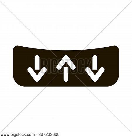 Shock Absorbing Mattress Glyph Icon Vector. Shock Absorbing Mattress Sign. Isolated Symbol Illustrat