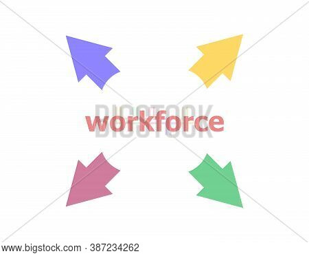 Text Workforce. Business Concept . Arrow With Word Workforce