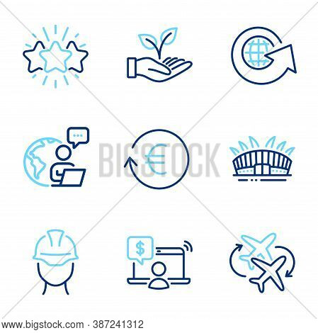 Business Icons Set. Included Icon As Exchange Currency, Online Shopping, Connecting Flight Signs. Wo