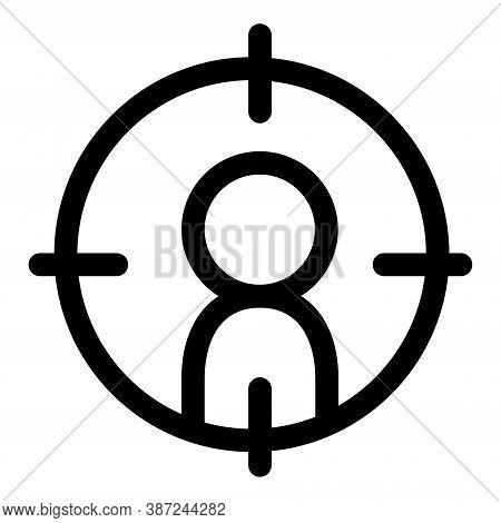 Customer Targeting Icon. Market Segmentation Symbol. Focus People Sign.
