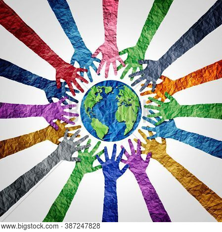 Global Diversity Or Earth Day And International World Culture As A Concept Of International People C