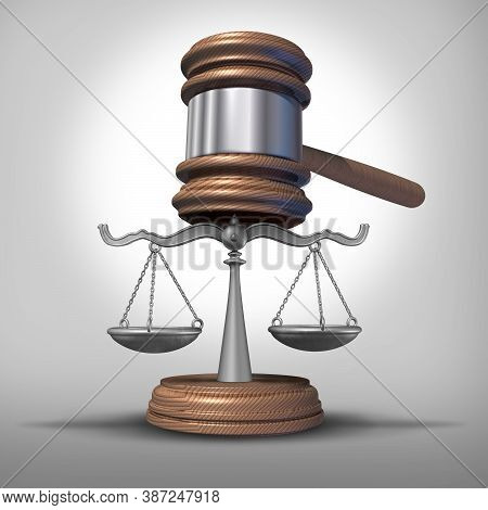 Legal Concept With Law Scales Of Justice With As A Legal Or Legality Symbol Of A Judge Gavel And Ver