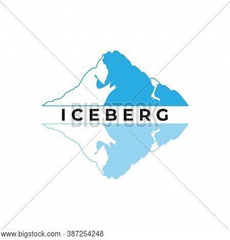 Ice Berg Vector Logo Illustration Isolated On White Background