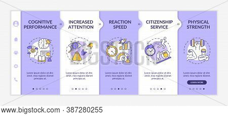 Energetics Mental And Physical Stimulation Onboarding Vector Template. Cognition. Citizenship Servic