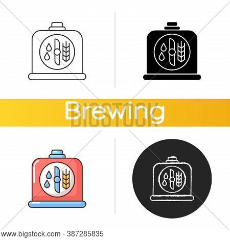 Brewers Yeast Icon. Brewery Production. Distillery Manufacture For Beer Production. Filtering Ale. I