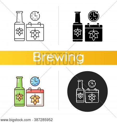 Saison Beer Icon. Brewing Alcoholic Drink. Traditional Beverage Production. Classic Ale. Ale Manufac
