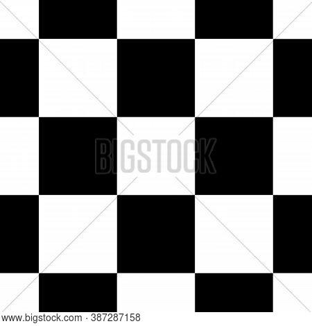 Checks Seamless Pattern. Checkered Ornament. Tiles Wallpaper. Squares Illustration. Geometric Ornate