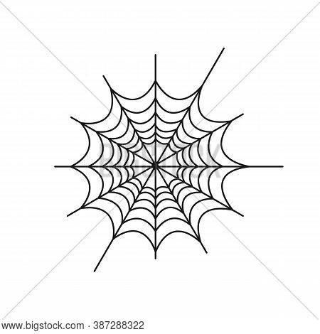 Creepy Spider Web Vector Illustration. Spider Web Isolated. Vector Eps10