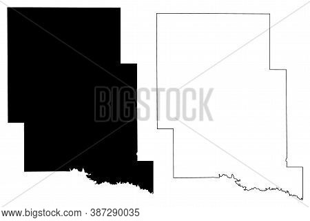 Marshall County, Mississippi (u.s. County, United States Of America, Usa, U.s., Us) Map Vector Illus