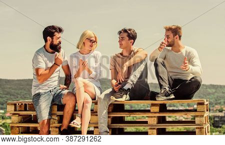 We Like Spending Time Together. Best Friends. Summer Vacation. Group Of Four People. Great Fit For D