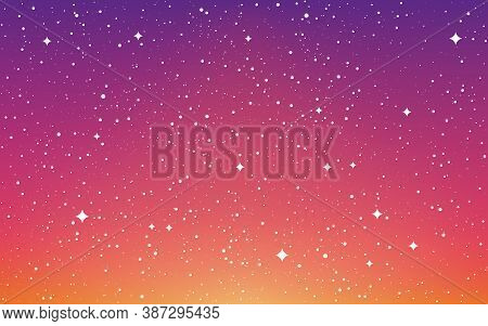 Space Background. Colorful Galaxy With Shining Stars. Abstract Bright Nebula. Starry Futuristic Back