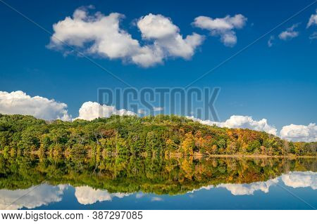 Little Falls Lake At Willow River State Park