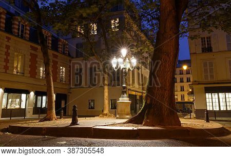 The Famous Place De Furstenberg Is Famous As One Of The Most Charming Squares In Paris, France.