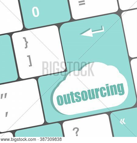 Outsourcing Word Button On Computer Keyboard Key