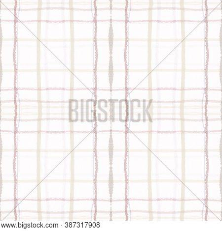 Plaid Pattern. Neutral Picnic Fabric. English Buffalo Wool. Seamless Abstract Blanket. Geometric Pla