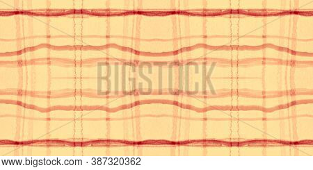 Autumn Tartan Pattern. Watercolor Plaid Texture. Man Squares For Tile Design. Seamless Red Tartan Pa