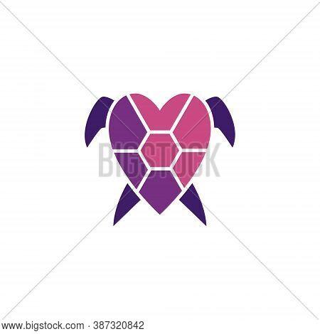 Love Heart Care Turtle Tortoise Shell Wildlife Logo
