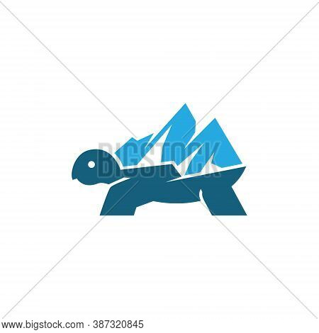 Mountain Turtle Tortoise Wildlife Adventure Abstract Simple Logo