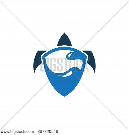 Shield Turtle Tortoise Shell Sea Aquatic Wildlife Abstract Logo