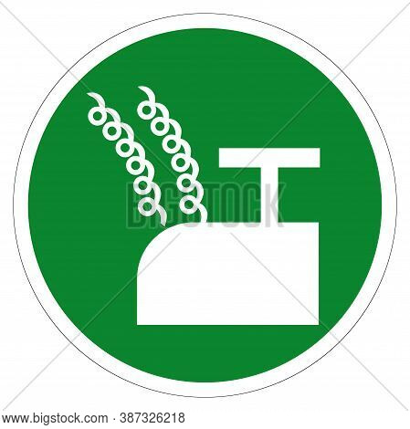 Blasting Point Symbol Sign, Vector Illustration, Isolate On White Background Label .eps10