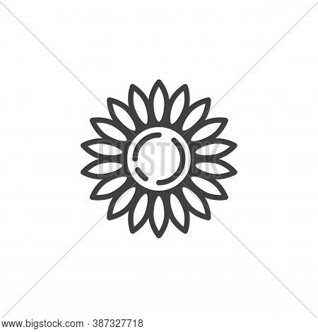 Chamomile Flower Line Icon. Linear Style Sign For Mobile Concept And Web Design. Chamomile Petals Ou
