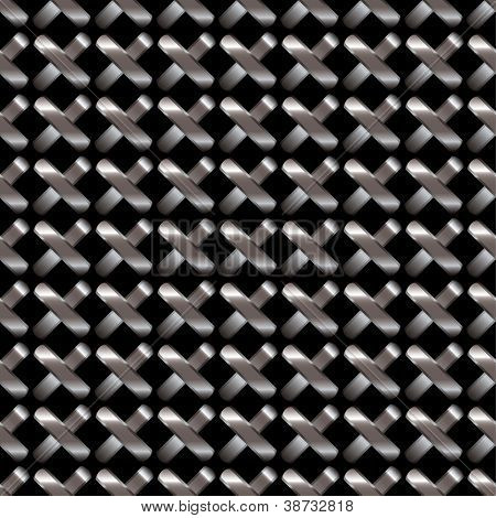 Silver cross chain link fence with shop shutter ideal stock background