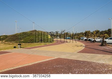 Paved Pedestrian Walkway At Beachfront Durban South Africa