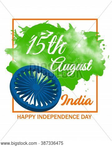 India Independence Day And 15th August Is Special And Celebrating Day For India. Templete Vector Ill
