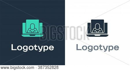 Logotype Online Psychological Counseling Distance Icon Isolated On White Background. Psychotherapy,