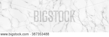Panorama White Marble Stone Texture For Background Or Luxurious Tiles Floor And Wallpaper Decorative