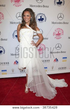 LOS ANGELES - OCT 20:  Lauren Mayhew arrives at  the 26th Carousel Of Hope Ball at Beverly Hilton Hotel on October 20, 2012 in Beverly Hills, CA