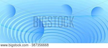 Light Gradient Background. 3d Flow Line Banner. Color Minimal Movement. Blue Futuristic Website. Gra