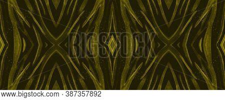 Seamless Safari Wallpaper. Abstract Wildlife Texture. Luxury Animal Fur Design. Watercolor Lines. Wi
