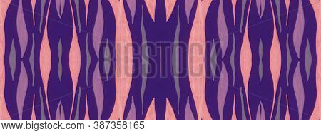 Ethnic Texture Design. Watercolor Exotic Wave Stripes. Tiger Skin Background. Fashion Wildlife Patte