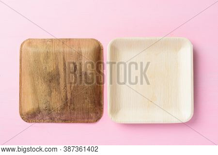 Back And Front Of Betel Palm Leaf Plate (biodegradable Plate, Compostable Plate Or Eco Friendly Disp