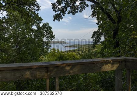 A Scenic Overlook Of Lake Pepin On The Mississippi River.