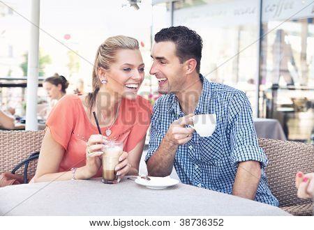 Cute couple having fun