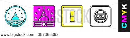 Set Ampere Meter, Multimeter, Voltmeter, Ampere Meter, Multimeter, Voltmeter, Electric Light Switch