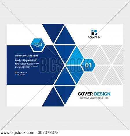 Catalog Cover Design, Booklet Design, Flyer Design, Creative Geometric Background, Magazine Page Lay