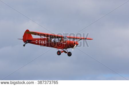 Ickwell, Bedfordshire, England - September 06, 2020: Vintage G-svas Pa-18 1961 Piper Super Cub  Airc