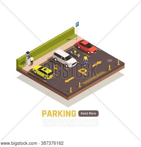 Paid Perpendicular Parking Area For Motorcycles Cars Scooters Light Vehicles With Reserved Spaces Is