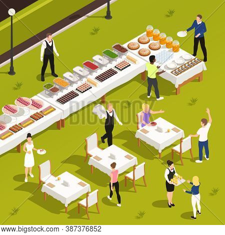 Outdoor Catering Corporate Events Private Celebrations Service With White Linen Patio Garden Tables