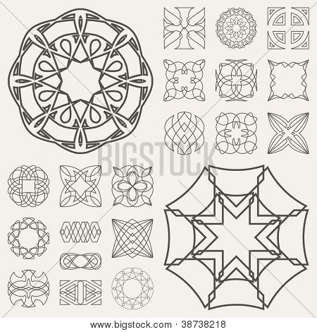 Guilloche vector elements.