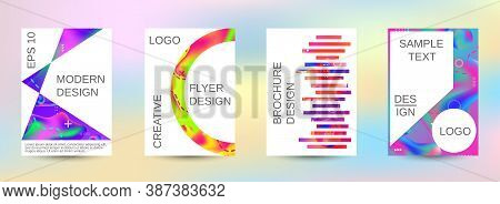 Modern Abstract Background. Artistic Covers Design. Creative Fluid Colors Backgrounds.  Blurred Brig