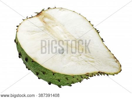 Sweet Soursop Isolated Cut Out On White Background