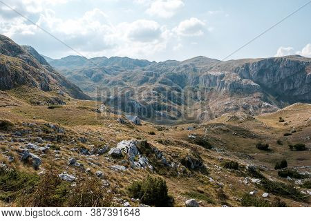 Scenic View On Durmitor Mountains, National Park, Montenegro, Balkans, Europe.