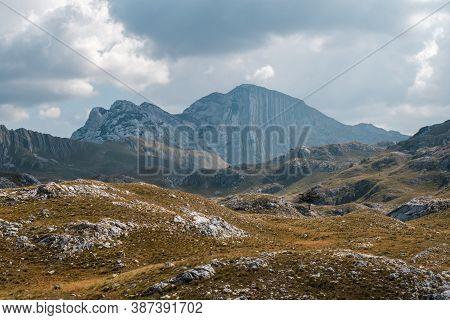 Amazing View On Bobotov Kuk In Durmitor Mountains, National Park, Montenegro, Balkans, Europe
