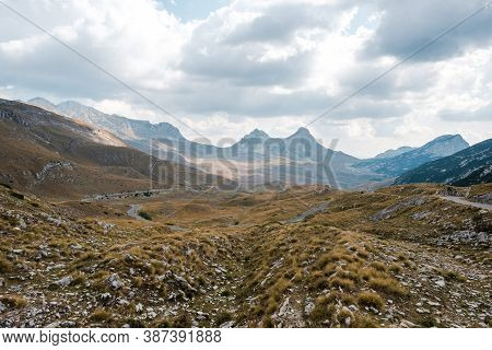 Amazing Autumn Landscape In Durmitor Mountains. Montenegro, Balkans, Europe