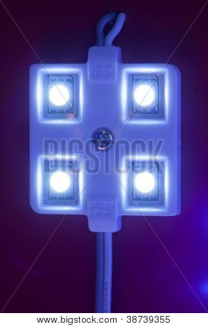 módulo LED de luz, vista de primer plano