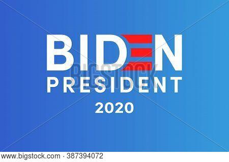Trump. Biden. Campaign Buttons. Patriotic Stars. Vote. United States Of America Election Design.